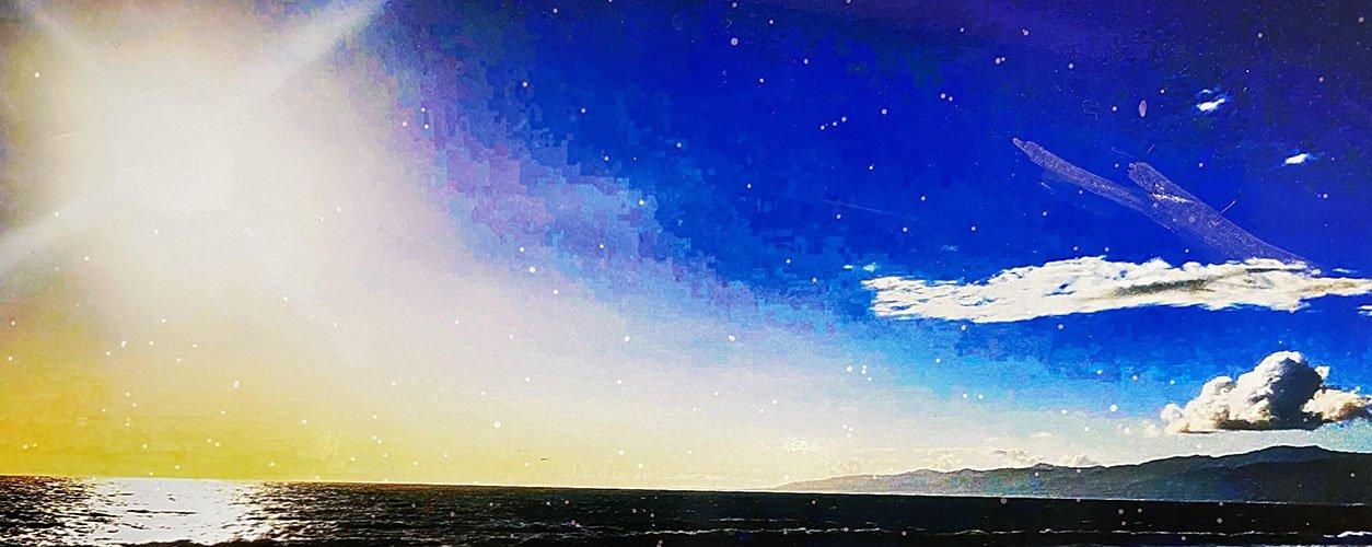 Calm ocean view painting